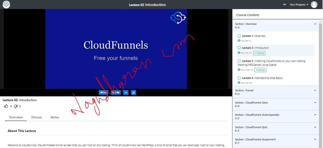 Coursefunnels Student virtual classroom