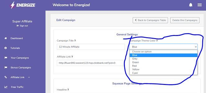 Energize Funnel Themes