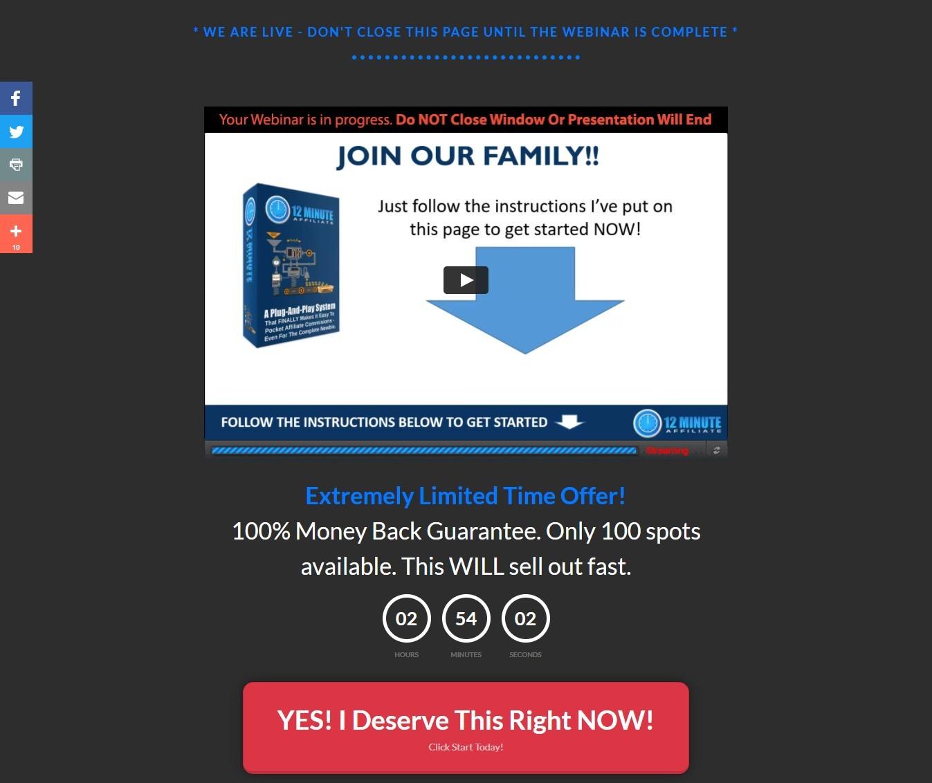 Energize Webinar page Sample